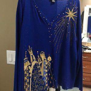 Roayal Blue, three wisemen sweater, XL